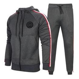 одежда спортивная одежда набор мужчин Скидка Tracksuit For Men 2 Pieces Set New Fashion Jacket Sportswear Men Tracksuit Hoodie Spring Autumn Men  Clothes Hoodies+Pants