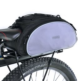 portador trasero Rebajas 14541 Mountain Road Bike Bicycle Cycling Rear Seat Rack Trunk Bag Pack Pannier Carrier Shoulder Bag Saddle bolso 13L