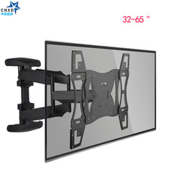 lcd led plasma tv Rebajas CNXD Dual Arm Articulation Tilt Swivel TV Montaje de pared LED Plasma LCD 32-65 '' TV retráctil Soporte de pared Soporte de LCD Soporte de plasma