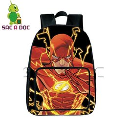 school bag teens Promo Codes - Comics Hero The Flash Backpack Children School Bags Daily Backpack Teens Boys Girls Justice League School Bags Gift Bookbag