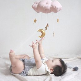 Wholesale Playing Girl Tent - 1PC Kids Play Tent Decoration Tent Props Raining Clouds Baby Bed Hanging Toys Kids Room Children Crib Hanging Decoration