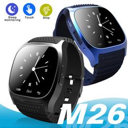 Sms relógio de pulso on-line-M26 smart watch bluetooth à prova d 'água smartwatches passometer monitor sms relógio de pulso para android samsung apple ios iphone x 8 plus crianças