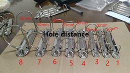 Wholesale metal file clips - 2 holes Metal spiral binder clip stainless steel A7 adn B6 binder file folder clip ring iron D