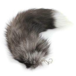Wholesale Wholesale Animal Backpacks - 1PC Faux Fox Fur Tail Tassel Bag Tag Handbag Backpack Samll Gifts (color random)