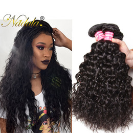 Wholesale Cheap Wavy Remy Hair - Nadula Brazilian Water Wave Human Hair Extensions Cheap Human Hair Virgin Hair Wefts Weave 5 Bundles Wet Wavy Remy Wholesale Unprocessed