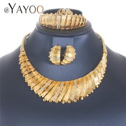 Wholesale jade jewellery sets - whole saleAYAYOO Jewelry Set Bridal Fashion Dubai Gold Color Jewelry Sets For Women Jewelery Sets Italian Choker Costume Jewellery