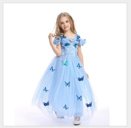 Wholesale Costume Children Cinderella - New pattern cuhk-child children's clothing Cinderella Princess Dress Girls skirt costumes summer dress manufacturers welcome to order