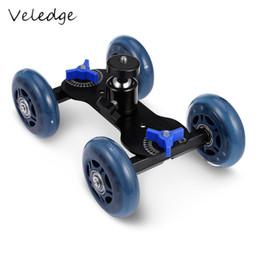 Großhandel vier-Rad-Videoschiene Track Slider Dolly Auto mit Kugelkopf für DSLR-Kamera Camcorder Wheeler Steadicam Stabilisator von Fabrikanten
