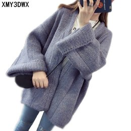 New women autumn winter fashion Long Design thick loose long sleeved knit  cardigan sweater lady Warm cardigan Coats Clothes discount new design  ladies ... eceb05e05