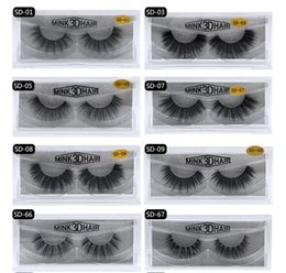 Wholesale individual mink lash extensions - 3D Mink Eyelashes Eyelashes Messy Eye lash Extension Sexy Eyelash Full Strip Eye Lashes By chemical fiber DHL