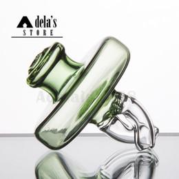 2019 sellos de goteo Doble direccional Flujo de aire de vidrio Carb Cap Cap Ajuste OD: 25 mm Top plano Spinner de clavo Cap Dos piernas Terp Perla Dab Rig 767