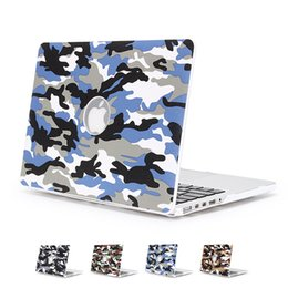 capa de couro apple macbook pro Desconto Fashion Camouflage Rubberized Laptop Hard Case Camouflage Hard Shell Notebook Protective Cover for Macbook 13 15.4 Pro 11 13 inch Air