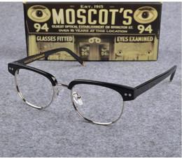 fca10f44f2 Newest MOSCQT JOEL eye-brow fan-art glasses frame 49-19-145 high-quality  metal+plank prescription glasses frame full-set case OEM-factory