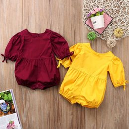 35f3cdb24ca8 Newborn Baby Girls Cotton Bowknot Long Sleeve Cotton Romper Clothing Kids  One-Piece Jumpsuit Playsuit Clothes Outfits Jumper NEW