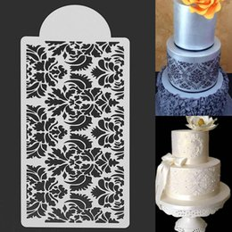 Wholesale Home Decorate Flowers - Wholesale- White Flower Cake Fondant Side Stencils Template Dessert Mold Mould Home Bakery Cake Baking Decorating Tools Gadgets Cake Decor