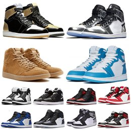 man torch Promo Codes - 2019 Mid OG 1 top 3 men basketball shoes 1s Bred Toe Banned Chicago Game Royal Shattered Backboard Pass The Torch Sports sneakers