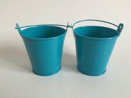 Wholesale metal flower embellishments wholesale - D7.5XH7.5CM (D3inch*H3inch) Tin Pails Wedding favors Holder Mini Buckets, mini pails Home and Garden Embellishment For Party