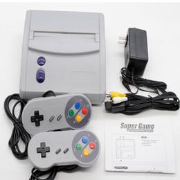 Consola de mão de 16 bits on-line-16 Bit Super Mini SFC Consoles de Jogos 64 Clássico Jogos Snes Mini TV Console de Jogos de Vídeo Handheld Retro Player Com Caixa De Varejo