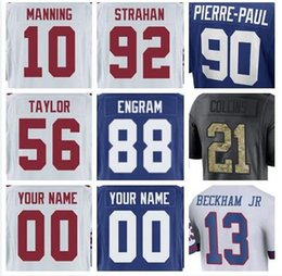 personalized team shirts Australia - 2018 New York Personalized american football jerseys college shirts authentic factory sports olive Salute to Service jersey cheap teams 4XL