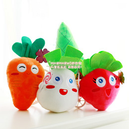 Wholesale plush carrot - Wholesale- Candice guo! super cute plush toy Carrot Fantasy game small plant radish carrot bamboo stuffed doll lover birthday gift 1pc