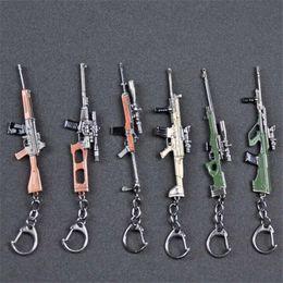 llaveros para pistola Rebajas 2018 Hot Juego PUBG Imitation Gun Llavero Weapon Sniper 11 Diseños Llavero de coche PLAYERUNKNOWN'S BATTLEGROUNDS Llavero para novio regalo