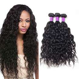 wavy permed hair Promo Codes - Malaysian Water Wave Virgin Hair 4 Bundles 8A Grade Unprocessed Wet and Wavy Malaysian Human Hair Water Wave Hair Weave