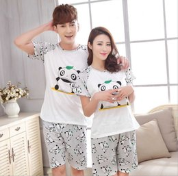 New Men Women China Giant Panda printing Round Neck Short sleeve Sleepwear  Summer Couple Leisure Pajamas Home Suit e47802914