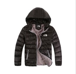 Wholesale girls goose down coats - Best-selling new down jacket winter wear boy and girl hooded leisure jacket new medium and big boy light 120-160