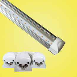 Wholesale light tubs - CREE Integrated T8 Led Tube Light Double Sides 4ft 5ft 6ft 8ft Cooler Lighting Led Lights Tubes sets AC 110-240V With All accessoriesLED tub