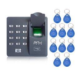 2019 impressão digital Máquina de controle de acesso por impressão digital CDT X6 com teclado scanner de impressão digital para sistema de controle de acesso porta RFID com 10 pcs keyfobs RFID