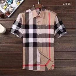 Marque hommes affaires chemise décontractée hommes à manches longues rayé slim fit camisa masculina sociale mâle T-shirts nouvelle mode homme chemise à carreaux GG01 ? partir de fabricateur