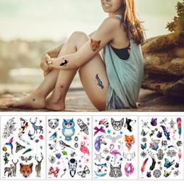 2019 fuchs aufkleber tattoo 14.8 * 21cm Fox Feder Wolf Design Kleine Kleine Tattoo-Aufkleber Temporary Aquarell DIY Body Art Tattoo-Fälschungs-Feiertags-Geschenk rabatt fuchs aufkleber tattoo