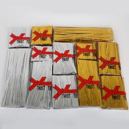 Di alta Qualità 800 Pz Metallico Twist Tie Wire 4 MM Larghezza di Imballaggio Corda Filo Per Cake Pops Tenuta Sacchetti di Violoncello Decorazione Del Mestiere da