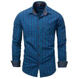 rotes kariertes menskleidhemd Rabatt Herrenhemden Langarm karierte Hemden Markenkleidung EU US Größe S M L XL XXL XXXL Blau Rot Weiß
