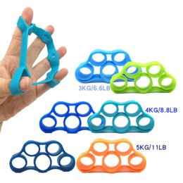 Dedos de corda on-line-6 Pcs Dedo Resistência De Borracha laço puxar corda bandas de resistência banda elástica exercício loops Dedo Aperto Exercitador esportes