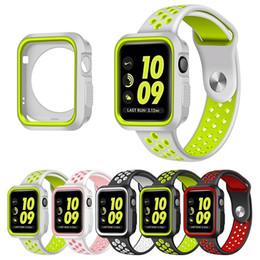 funda protectora con correa de muñeca colorida de Silicon Sports Band para Apple Watch iwatch 38 / 42mm Brazalete Series 3 21 Estuche de reloj desde fabricantes