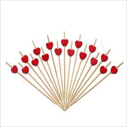 Amore bambù online-Red Love Heart Picks Cocktail Bamboo Antipasto Stuzzicadenti Matrimonio Compleanno San Valentino Decorazioni per feste 4.7 Pollice 100 Conteggi-MSL131
