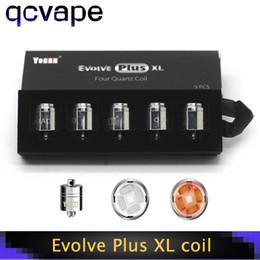 2019 atomizador de hierba seca elips Original Yocan Evolve Plus XL Bobinas Cabeza Cera Quadz Varilla Reemplazo Bobinas con tapa de bobina para Evolve Plus XL vape Kit