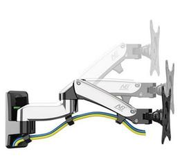 "Soporte de pared lcd online-360 Degree Gas Spring Aluminium 17 ""-27"" Monitor Holder Arm NB F150 LED LCD TV Wall Mount"