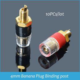 Wholesale Gold Plated Binding Posts - Sindax Speaker Audio Amplifier Transparent Terminal Binding Post Gold plated Terminals for 4mm Banana Plug Jack 10pcs lot