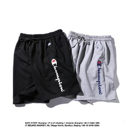 loose cotton trousers Promo Codes - Designer Mens Shorts Summer Style Brand Shorts Pattern Printed Mens Casual Solid Short Pants Fashion Brand Sport Short Trousers Joggers