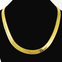 Wholesale thick asian women - Thick Chain 24K Gold Cover Women Men Wedding Anniversary Soft Snake Big Chain Necklace High Quality Jewelry Gifts Hiphop Male