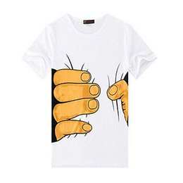 Canada T-shirt blanc à manches courtes à manches courtes col rond supplier 3d big hand printed t shirt Offre
