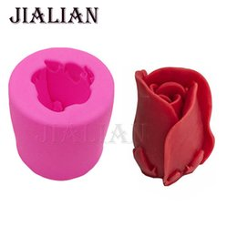 candle moulds Coupons - 3D Silicone Mold Rose Flowers Shape Mould For Soap,Candy,Chocolate,Ice,Candle Cake decorating tools cake recipe T0785