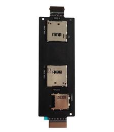 Cabo original asus on-line-Original novo cartão sim titular slot para cartão de cabo flexível para asus zenfone 2 ze551ml quad core de 5.5 polegadas do telefone móvel sim cartões adaptadores