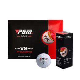 pgm golf Rebajas 3 unids / set Venta Caliente Original PGM Pelota de Golf de Tres capas Match Ball Caja de Regalo Paquete de Pelotas de Golf Juego 44g Diámetro 42mm Game Use Bolas