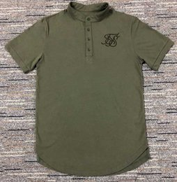 2894c6c1d25c 2019 magliette nere Maglietta degli uomini Maglietta nera bianca curva  verde Hem Stretch Ultime magliette piane