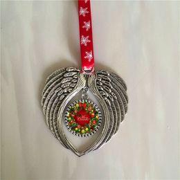sublimation noël ornement décorations ange ailes forme vierge transfert à chaud impression consommables fournitures nouveau style en gros ? partir de fabricateur
