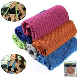 Wholesale pad 11 - 11 Colors 30*90cm Cool Towel New Ice Cold Enduring Running Jogging Gym Chilly Pad Instant Cooling Outdoor Sports Towel CCA9493 300pcs