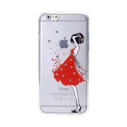 Wholesale Diamond Dust Covers - Slim Soft TPU Case Transparent 3D Embossed Cover Diamond Fashion Phone Shell with Lanyard Hole Protective Back Cover Dust Cap